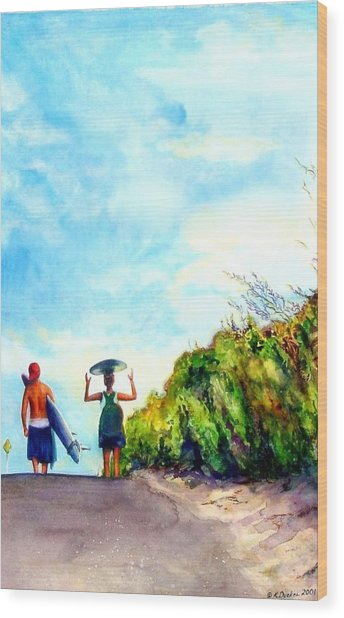 Our World Wood Print by Kathy Dueker
