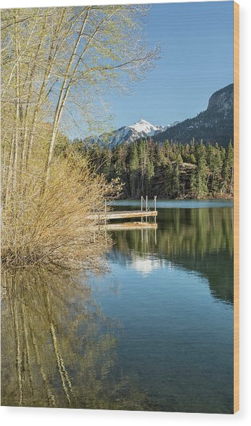 Ouray County Postcard Scene Wood Print