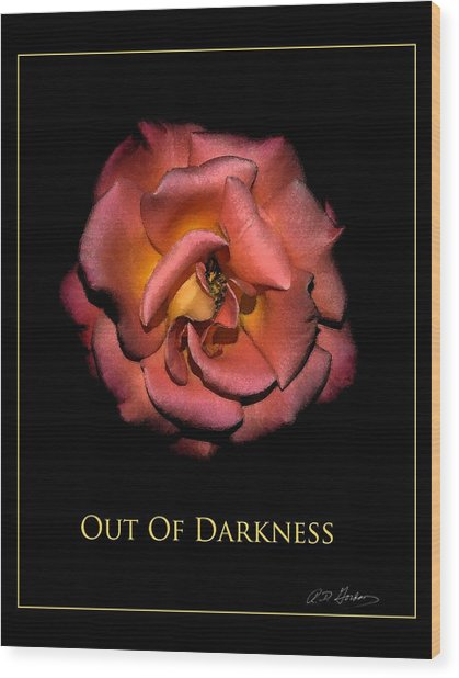 Out Of Darkness Wood Print by Richard Gordon