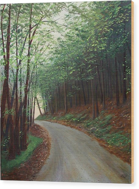 Out Of Darkness Wood Print by Sharon Steinhaus