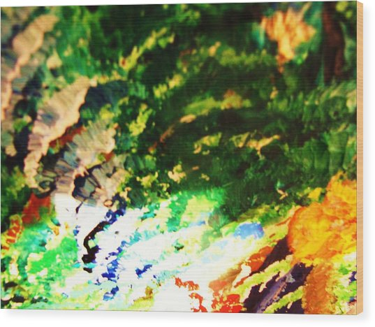 Out  Of Mind  Wood Print by HollyWood Creation By linda zanini