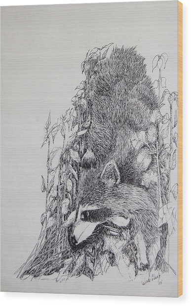 Out Of The Woods Wood Print