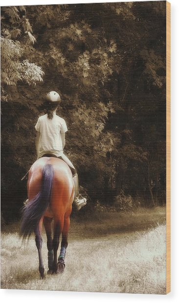 Out On The Trail Wood Print by JAMART Photography
