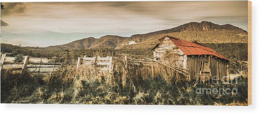 Outback Obsolescence  Wood Print