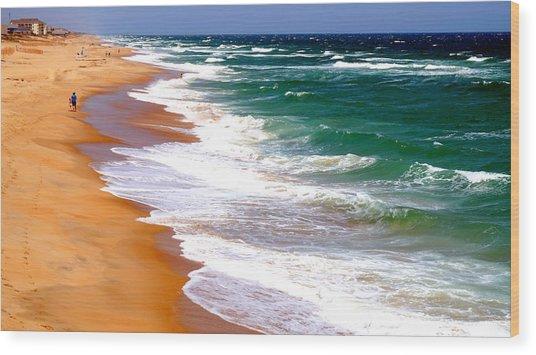 Outer Banks Beach North Carolina Wood Print