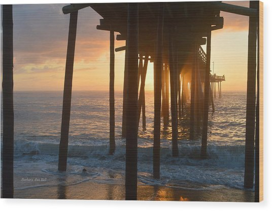 Outer Banks Pier 7/6/18 Wood Print