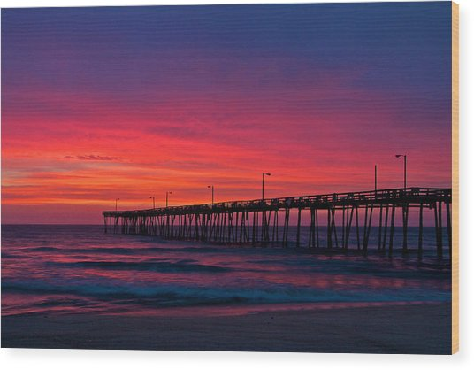 Outer Banks Sunrise Wood Print