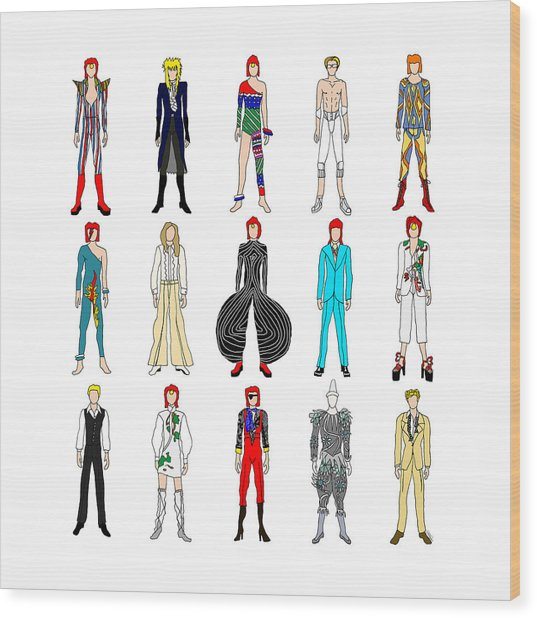 Outfits Of Bowie Wood Print