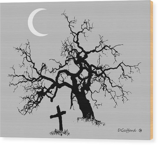 Outlaw Grave Wood Print by Dave Gafford