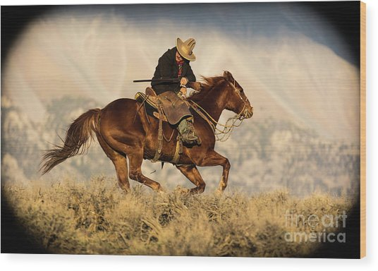 Outlaw Kelly Western Art By Kaylyn Franks Wood Print