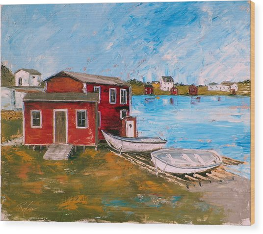 Outport 1 Wood Print