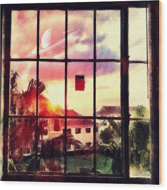 Outside My Window... Wood Print