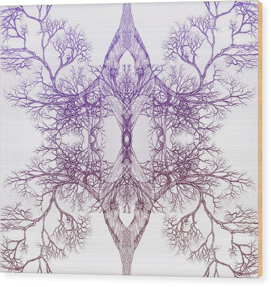 Outward Tree 9 Hybrid 4 Wood Print