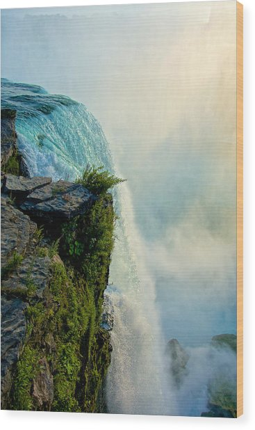 Over The Falls II Wood Print
