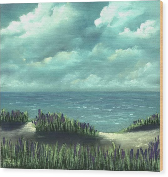 Wood Print featuring the painting Overcast by Anastasiya Malakhova