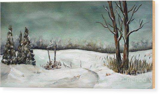 Overcast Winter Day Wood Print