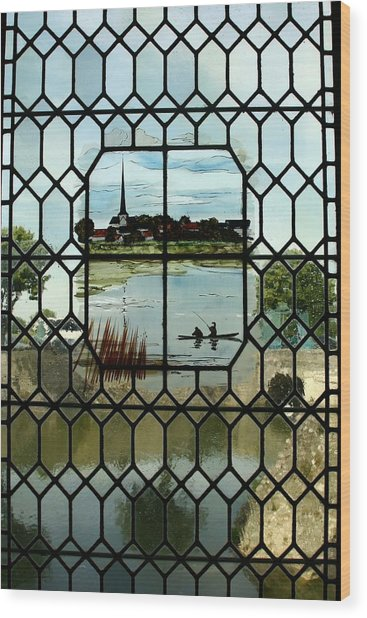Overlooking The Loire Wood Print by Mary McGrath