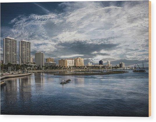 Overlooking West Palm Beach Wood Print