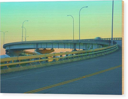 Overpass Wood Print by Paul Kloschinsky