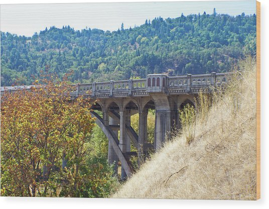 Overpass Underpinnings Wood Print