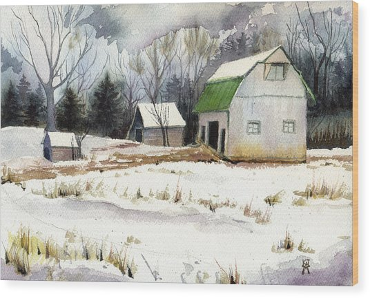 Owen County Winter Wood Print