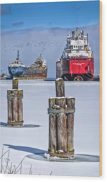 Owen Sound Winter Harbour Study #4 Wood Print