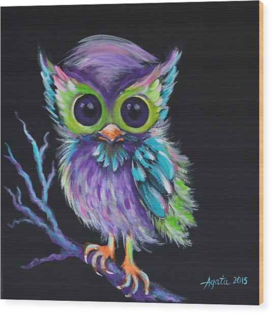 Owl Be Your Friend Wood Print