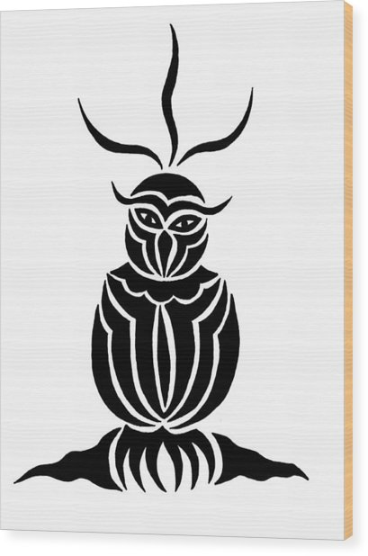 Owl For Nicole Wood Print