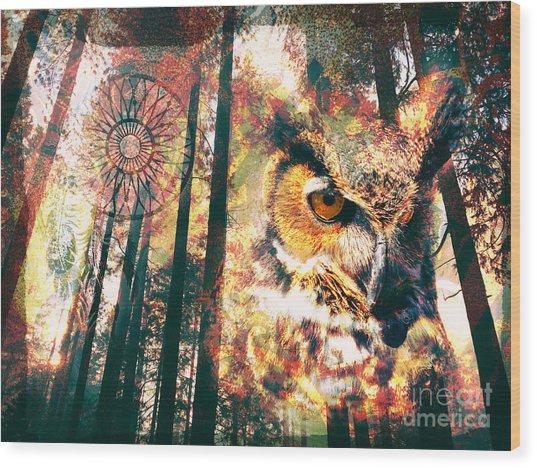 Owl Medicine 2015 Wood Print