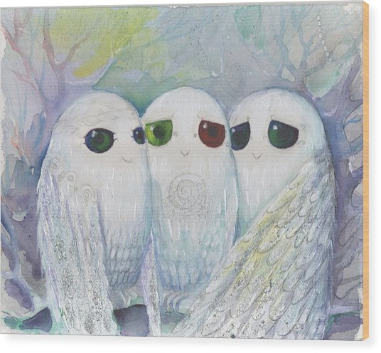 Owls From Dream Wood Print