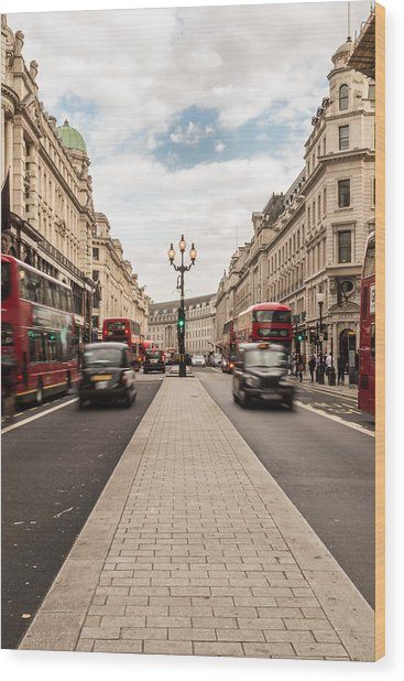 Oxford Street In London Wood Print