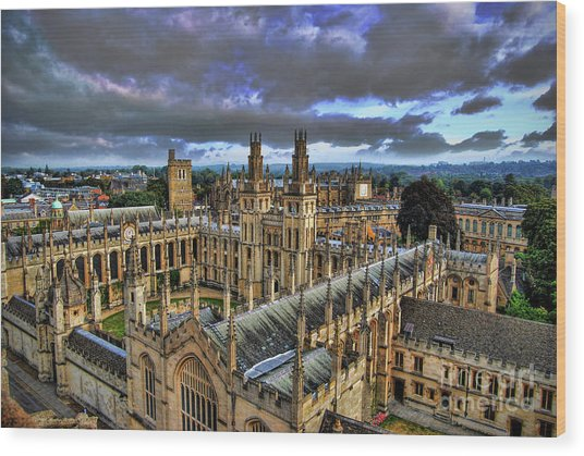 Oxford University - All Souls College Wood Print