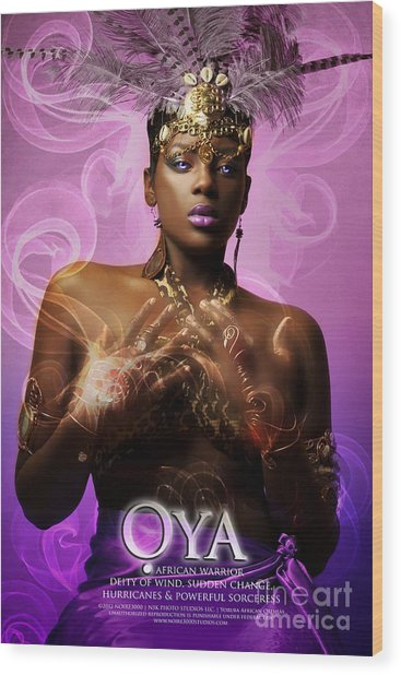 Oya Wood Print by James C Lewis