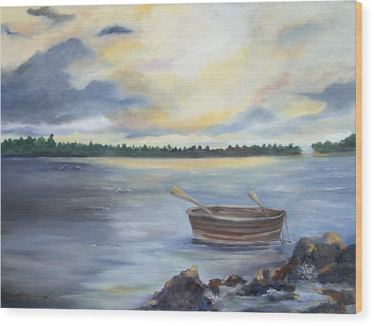 Oyster Bay Wood Print by Shirley Lawing