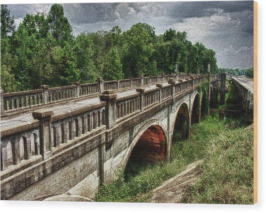 Ozark Alabama Bridge Wood Print by Frank Feliciano