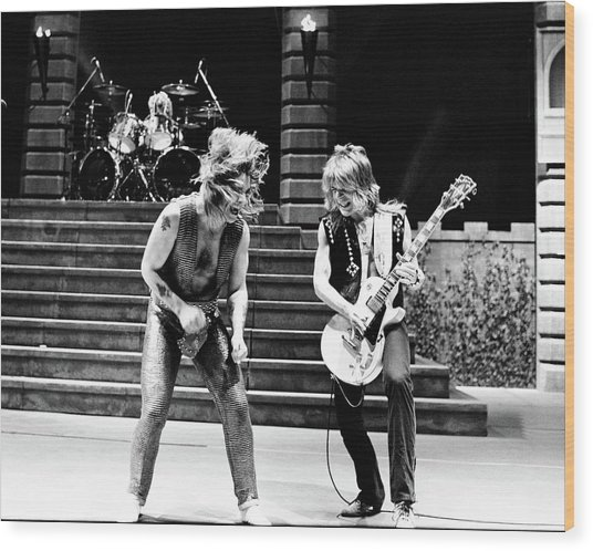Ozzy Osbourne And Randy Rhoads 1981 Wood Print