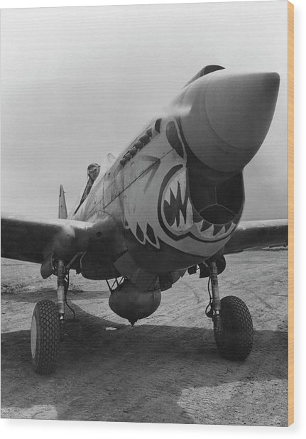 P-40 Warhawk - Flying Tiger Wood Print