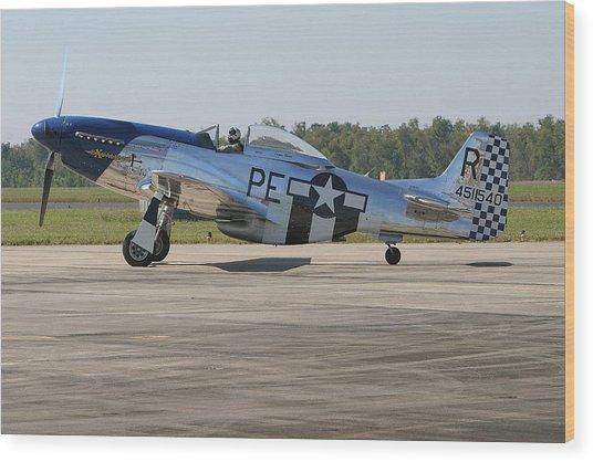 P-51 Mustang Wood Print by Donald Tusa