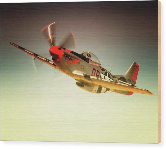 P-51 Mustang Man O War Wood Print