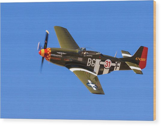 P-51 Speedball Alice Wood Print