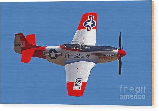 P-51d Mustang Flyby Wood Print