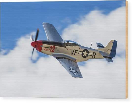 P-51 The Rebel Wood Print