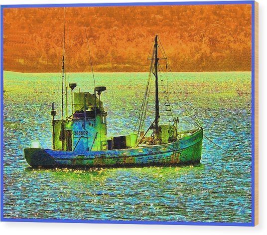 p1030865001d  Fishing  Boat Wood Print by Ed Immar