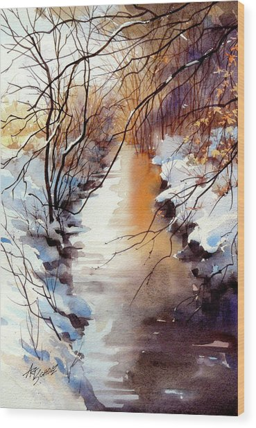 Running Hot And Cold Wood Print by Art Scholz