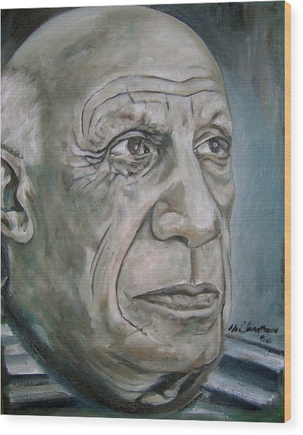 Pablo Picasso Wood Print by Martel Chapman