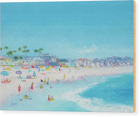Pacific Beach In San Diego Wood Print