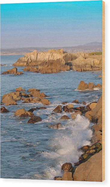 Pacific Beachline Wood Print by Pearson Photography