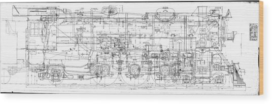Pacific Locomotive Diagram Wood Print