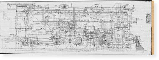 Pacific Locomotive Diagram Wood Print