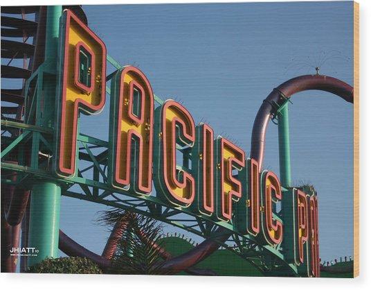Pacific Park Wood Print